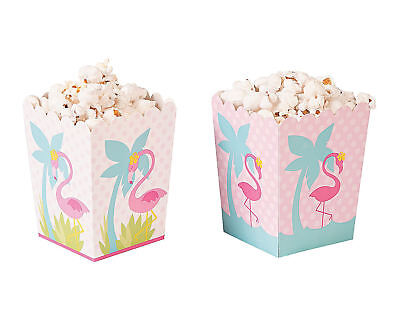 24 Pink FLAMINGO Popcorn Boxes LUAU Swimming Beach Party Decoration Favors Goody (Pink Popcorn)