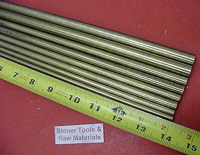 14 To 12 C360 Brass Round 8 Pc Assortment Solid Rod 14 Long Bar Stock 3.72