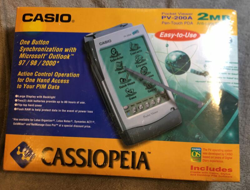 Casio PV-200A Pocket Viewer Pen Touch PDA 2MB Anti-Loss Memory N.I.Box