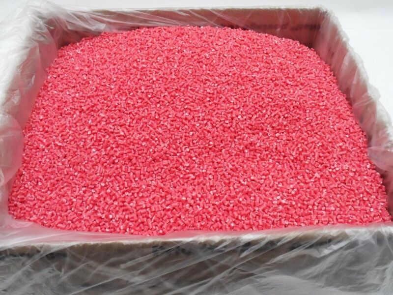 ABS Plastic Pellets 3d Printing Polylac PA-747, Opaque Pink, 10 lbs. Free Ship