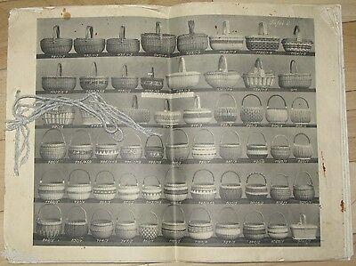 Carl Zeidler Korbwaren Industrie Sonnefeld   Katalog   Musterbuch um 1935 Körbe