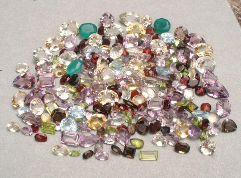 Gem mix semiprecious loose natural gems over 200 carats