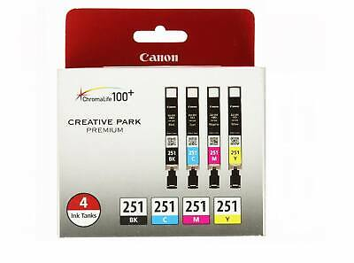 4 GENUINE Canon PGI-250 CLI-251 Ink Cartridges For PIXMA MX722 MX922