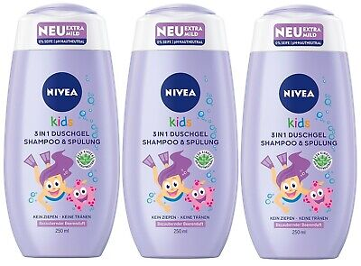 Nivea Kids Duschgel & Shampoo Beerenduft ph-Neutral 03er-Pack(3x250ml)