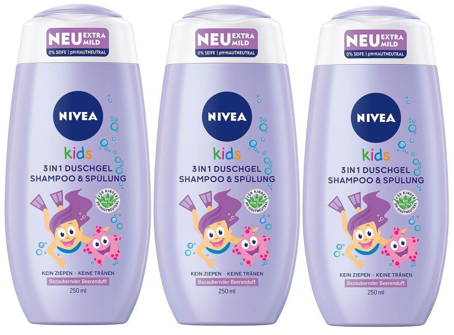 Nivea Kids 3in1 Duschgel & Shampoo Beerenduft ph-Neutral 01er-Pack(1x250ml)