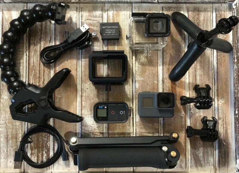 GoPro Hero5 Black CHDHX-501 Camera - Smart Remote + Adventure Bundle