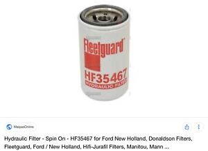 FLEETGUARD HYDRAULIC FILTERS AND COOLANT FILTER