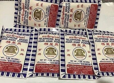 6 + 1 free = 7 Packs of Agar Agar Powder - Telephone Brand  ships from USA