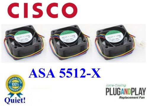 3x *QUIET* Version Replacement Fans for Cisco ASA 5512-X Satisfaction Guaranteed