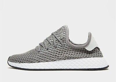 Adidas Originals Deerupt Runner ® (Sizes UK: 3 & 5) Grey / White NEW