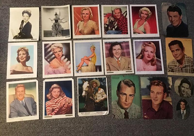 17 1940s Movie Stars Color Photo Lot Betty Grable Lana Turner Sinatra Lynn Bari