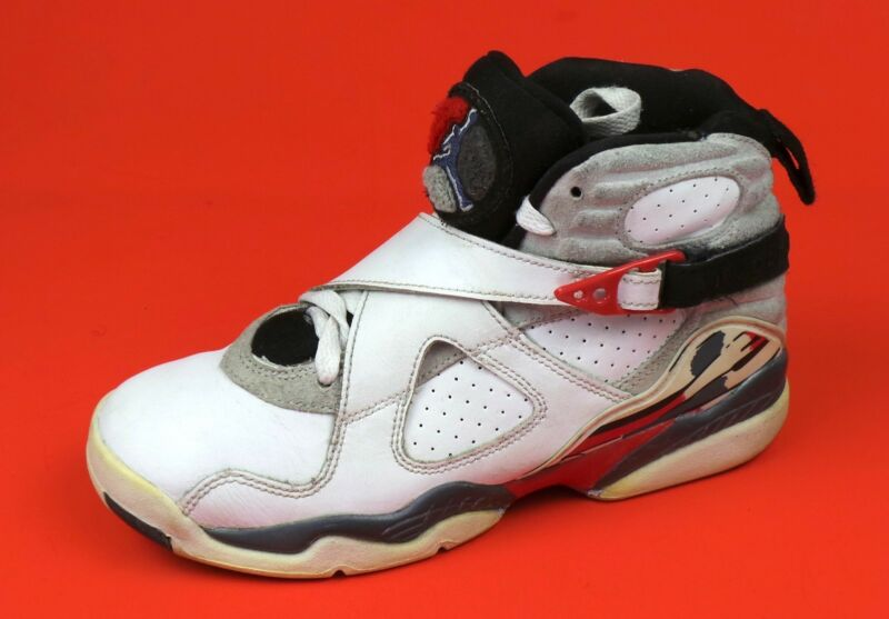 quality design 5ce16 2aa4f Nike Air Jordan VIII 8 Retro White Black-Red Bugs Bunny 305368-103 GS SZ 4Y