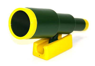 Large Green Plastic Telescope Swing Set Accessory for Outdoor Wooden Swing Set