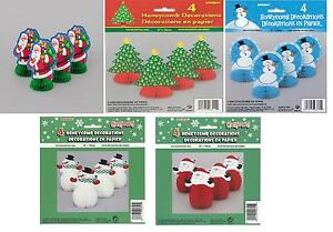 4-x-6-Mini-Honeycomb-Christmas-Party-Table-Decorations-Snowmen-Santas-Trees