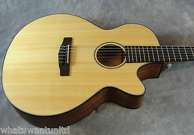 Cort Cec3 Ns Classical Acoustic Electric Guitar Solid Spruce Top Nylon String