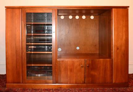 Entertainment Unit solid blackwood. Storage for HiFi, records, CD Fitzroy North Yarra Area Preview