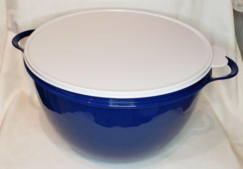 Tupperware Thatsa Bowl Jumbo 59 Cup Mixing, Store, Serve NEW! Navy Blue BPA FREE