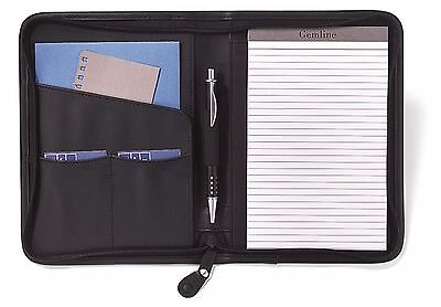 Gemline Executive Simulated Leather Junior Zippered Padfolio 5 X 8 Pad - New