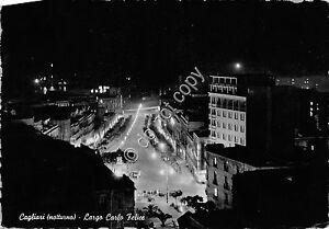 Cartolina-Postcard-Cagliari-Notturno-Via-C-Felice-1958