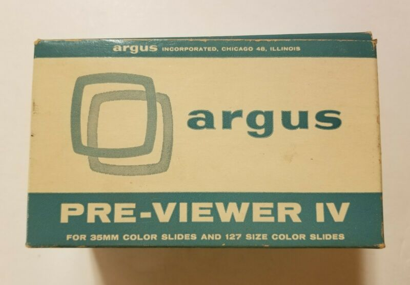 Vintage Argus Pre-Viewer IV 35mm Illuminated Slide Viewer