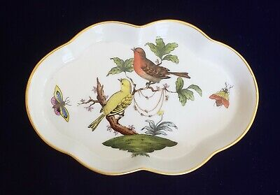 Herend 7705 Rothschild Bird Porcelain Pin / Trinket Dish  - Gilt Edge 5 3/8""