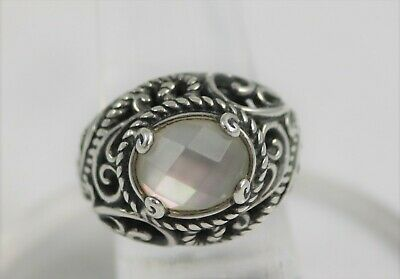 Carolyn Pollack Relios Sterling Silver Signature Doublet Mother of Pearl Ring
