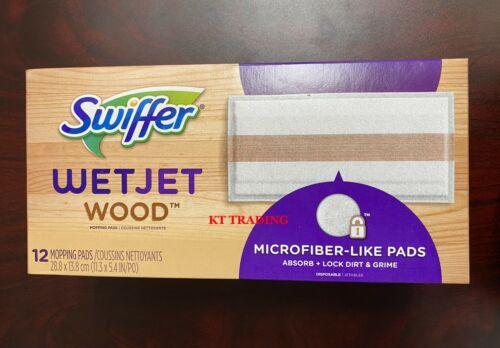 Swiffer WETJET Heavy Duty WOOD Floor Mopping MICROFIBER-LIKE Refill Pads ~12 Ct