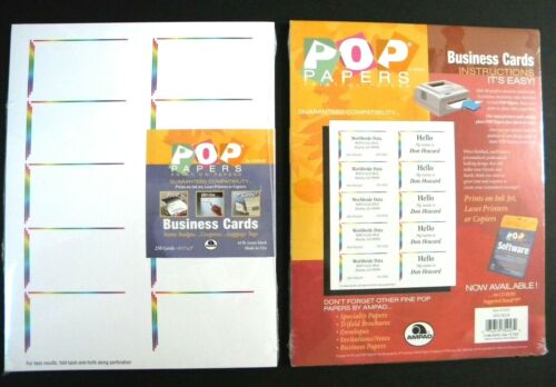 """AMPAD """"Spectrum"""" Printable Business Cards ~ 2 Packs of 250 (total 500) 3.5"""" x 2"""""""