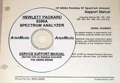 Hp 8590A  Service Support Manual  Good Schematics