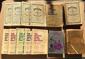 The official guide of the railways  13 books from 1940-1973
