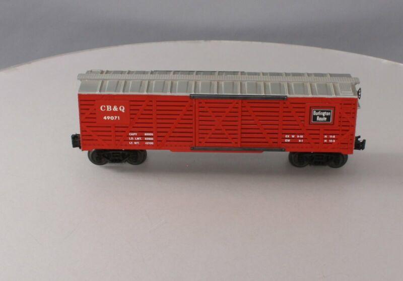 QSI 49071 O Gauge Chicago Burlington & Quincy Stock Car w/ Chicken Sounds EX