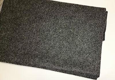 (7,10€/m²) Filz Boxen Teppich Bespannstoff Bezugsstoff 150x75cm grau 2423