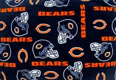 1-NFL CHICAGO BEARS PRINTED FLEECE BODY PILLOW CASE/ BLACK FLEECE BACK (Chicago Bears Body Pillow)