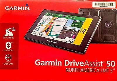 *BRAND NEW* Garmin DriveAssist 50 NA LMT GPS Lifetime Maps and Traffic Dash Cam
