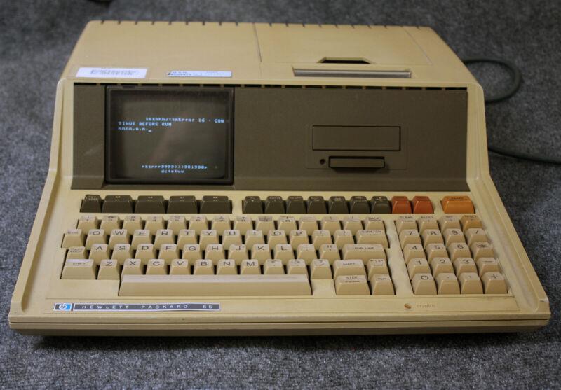 vintage computer hewlett packard 85