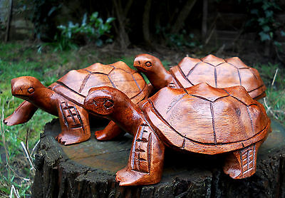 Wooden Carved Figure Turtle 20 cm Home Decoration Amazing Quality Handmade Bali