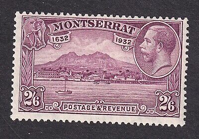 Montserrat 1932 2/6d purple mint hinged