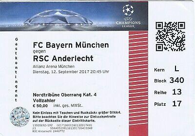 Ticket: Bayern Munich - Anderlecht UEFA Champions League (12-9-17)