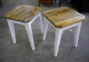 New White Timber Rustic French Provincial Vari Stools Side Table Melbourne CBD Melbourne City Preview