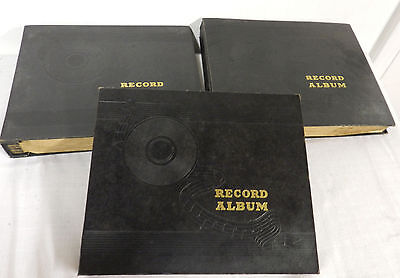 (30) VINTAGE 78 RPM RECORDS w/3 MATCHING BLACK ALBUMS CLEAN