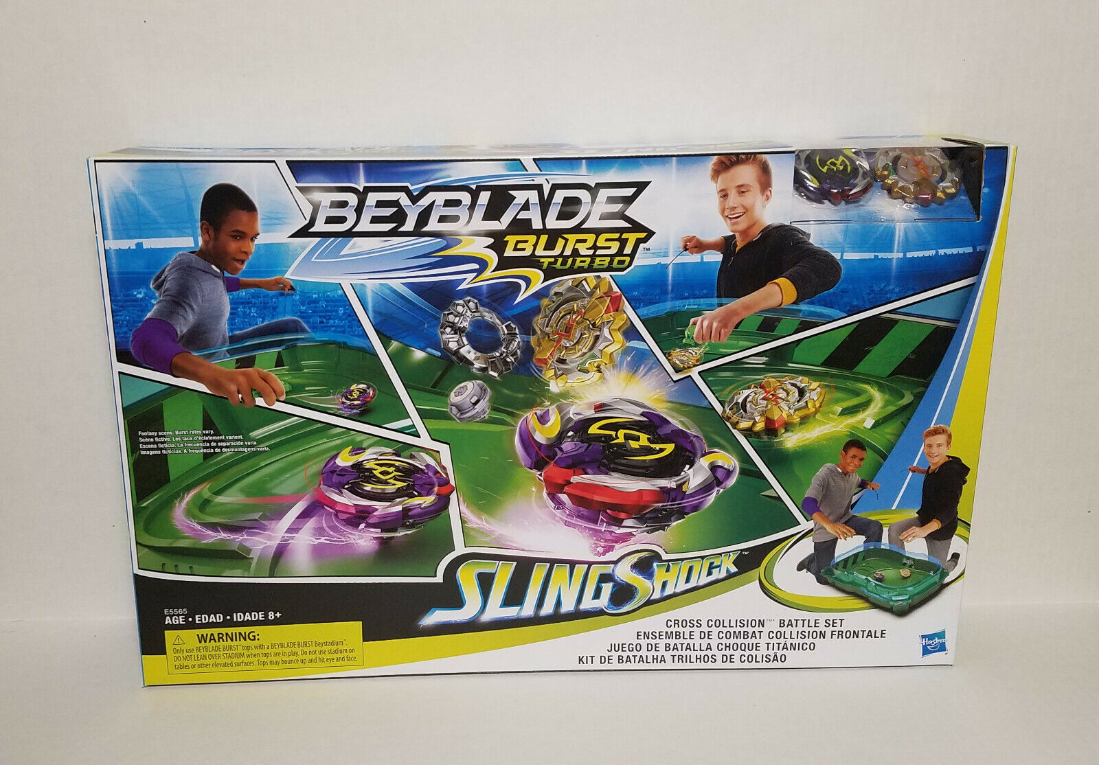 BEYBLADE Burst Turbo Slingshock Cross Collision Battle Set