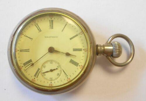 1905 Waltham Alaska Metal Case Open Face Pocket Watch Lever Set 18 Size 17J