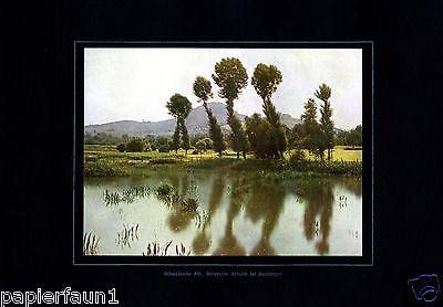 Burgruine Achalm Reutlingen XL Fotoabbildung von 1924 in Farbe Burg Ruine +