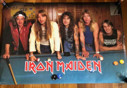 Iron Maiden Pool Table RARE original vintage poster 1984
