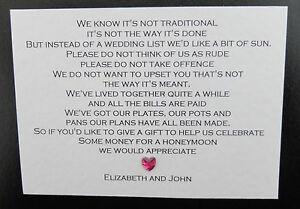 10 X Handmade Personalised Wedding Honeymoon Money Cash