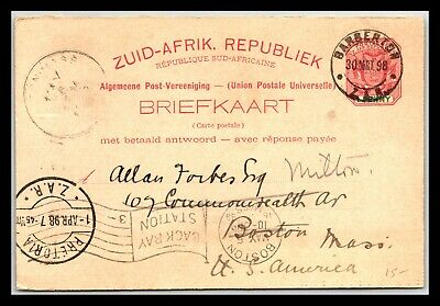 GP GOLDPATH: SOUTH AFRICA POSTAL CARD 1898 _CV676_P10