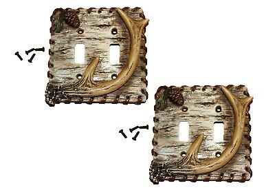 Deer Hunter Theme Double Light switch Plate Covers, - 2 item