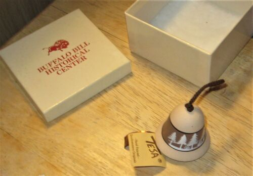 Tesa Southwestern Originals Hand Painted Bell Buffalo Bill Historical Center Box