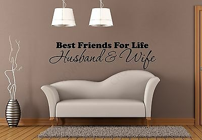 HUSBAND & WIFE BEST FRIENDS FOR LIFE Vinyl Decal & Wall Art Mural Decor