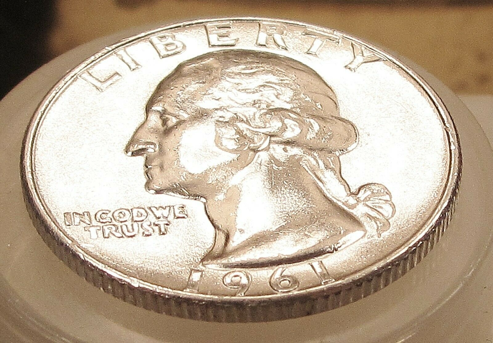 1961 Brilliant UNC Quarter 90 SILVER Decent Coin Great Price 504 47 - $5.51